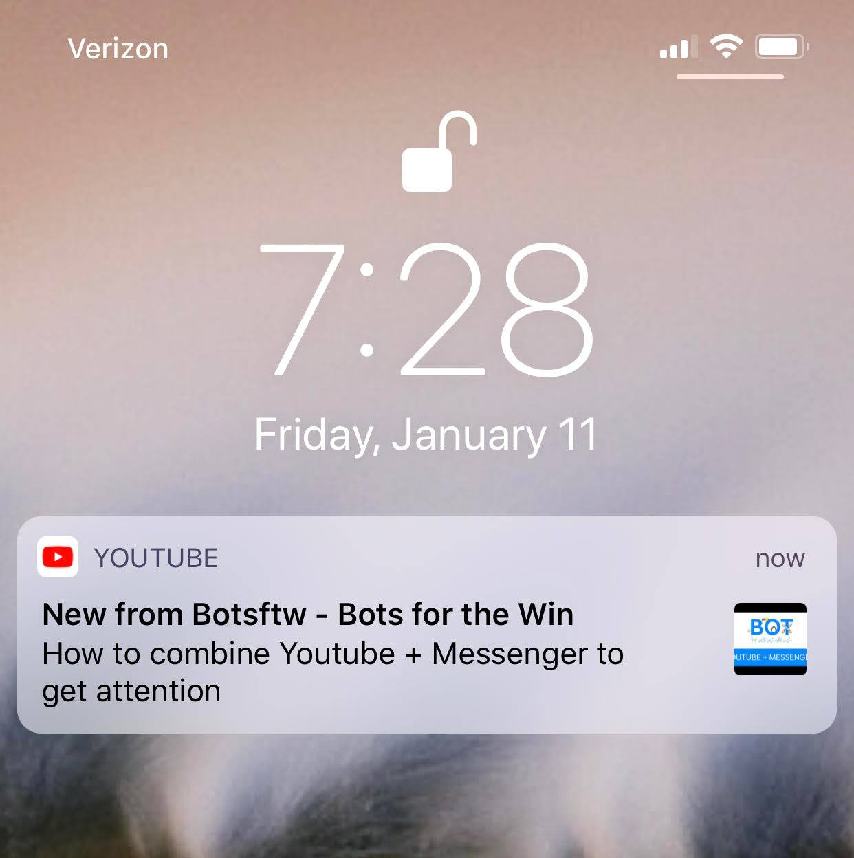 Youtube Push Notification