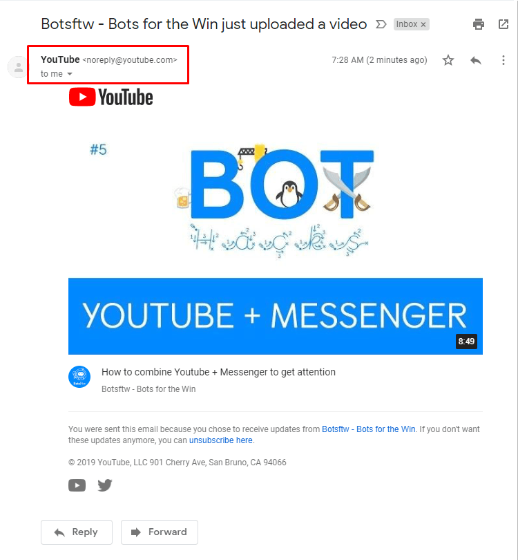 Youtube Subscriber Email